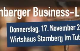Dabeisein! Die 4. Starnberger Business Lounge kommt
